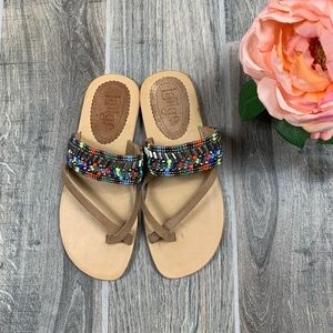 Anthropologie Látigo Shaman Beaded Sandals